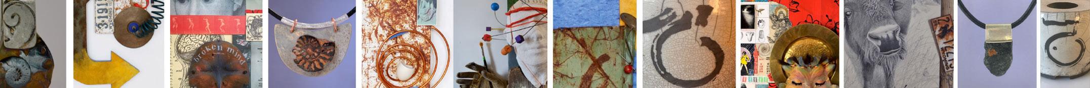 mixed media thumbnails of Terry Kreuzer artwork