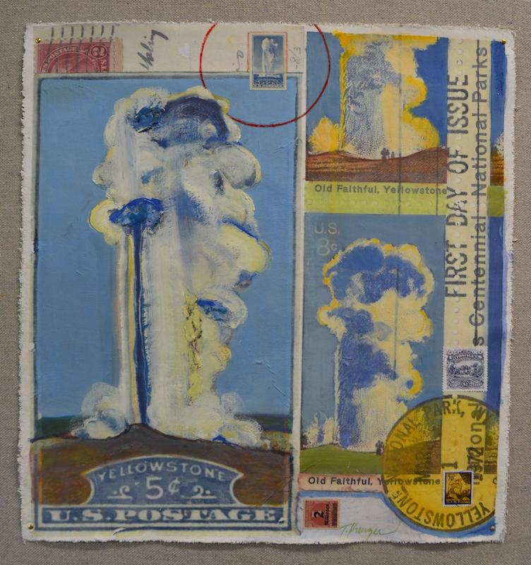 5 Cents Old Faithful Geyser Composition